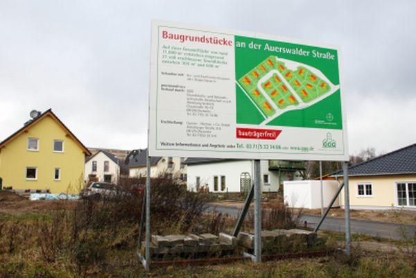 Bautafel Baufeld 3 in Chemnitz