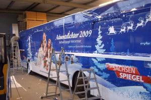 Bus-Beschriftung für die Weihnachts-Promotion-Tour des MDR Sachsen Spiegel_42