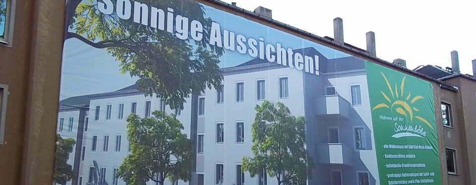 XXL-Banner, Bautafeln Future Werbeagentur Chemnitz