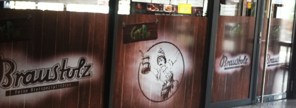 Beschriftungen-Fensterbeschriftungen | City-Pub | future Werbagentur Chemnitz
