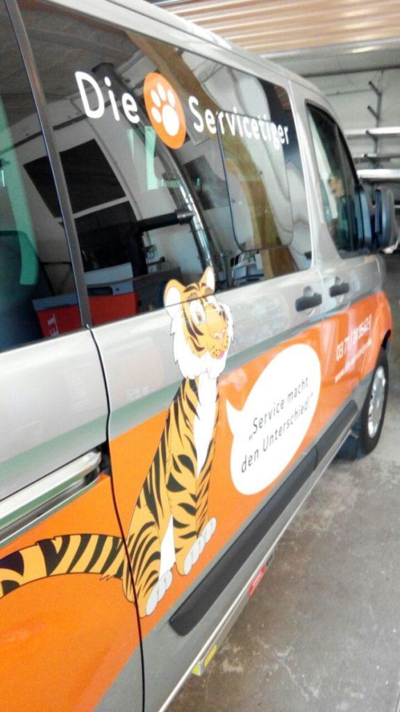 Service_Tiger Farhrzeugfolierung Chemnitz Future Werbeagentur