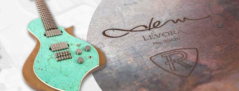 Lasergravur Gitarrendeckel Roy Frankhänell